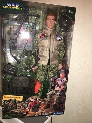 DEER HUNTER FIGURE WILD ADVENTURE NEW ACTION HUNTING BOW ARROW TREE STAND & More