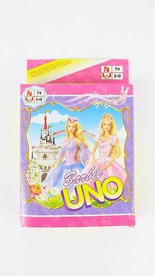 Barbie UNO CARDS Family Fun Playing Card Educational Theme Board Game