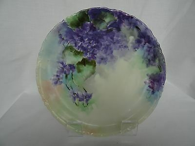 Hand Painted Plate Philip Rosenthal & Company, Bavaria Signed M. Eichin, 1891
