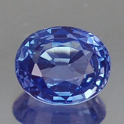 1.19Ct Certified Vvs Oval Blue Heated Only Ceylon Sapphire
