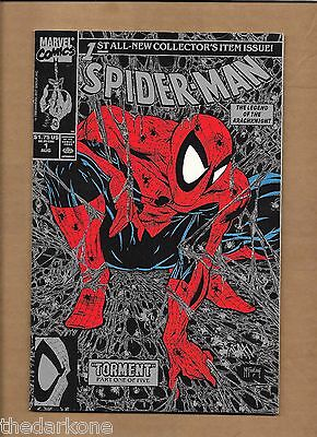 Spider-Man #1 Todd Mcfarlance Black Silver Ink Cover