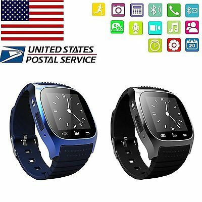 Bluetooth Smart Wrist Watch Phone Mate For IOS iPhone Android Samsung HTC Huawei