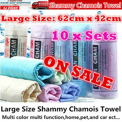 10x Best Large size shammy chamois towel Pvs for Auto car home office pet garden