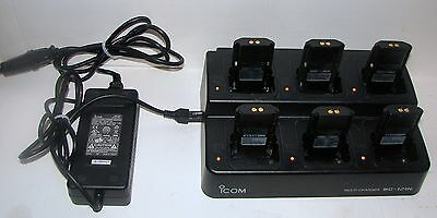 ICOM BC-121N 6 Unit Charger For IC-F14 IC-F24 + many other ICOM Radio Models