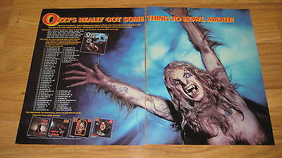 "Large 21 1/2 x 13 1/2""  OZZY OSBOURNE 1984 TOUR dates promo trade mag ad poster"