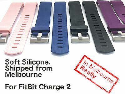 Soft Silicone replacement band for FitBit Charge 2 - Located in Melbourne