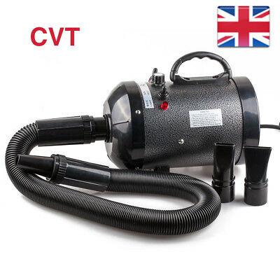 NEW Portable 2800W Cat Dog Pet Hair Dryer Blaster Blower Heater Grooming UK PLUG