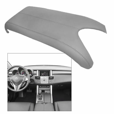Fits 07-12 Acura RDX Center Console Lid Armrest Cover Real Leather Grey