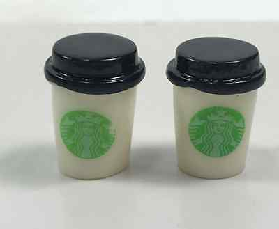 1:12 Toys 2 cup of Starbucks coffee cup dollhouse accessories