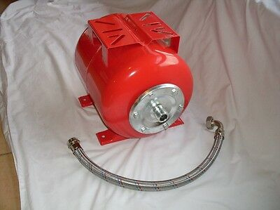 Great Deal! 24L Steel Pressure Tank + Stainless Flex Hose for Water Pumps 25mm