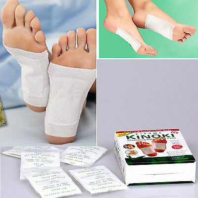 10 Herbal Detox Foot Pads Patch Detoxify Toxin Adhesive Keeping Fit Healthy