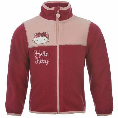 Official Product ~ Hello Kitty Zipped Fleece Jacket/Top ~2 to12 Years