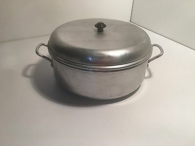 vintage art deco aluminium large cake tin industrial design