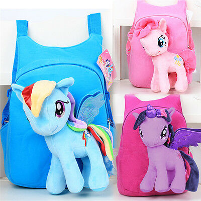 Cute My Little Pony Toy Doll Boy Girls School Shoulder Bag Backpack Xmas Gifts