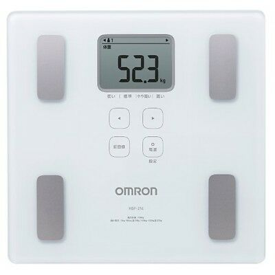 NEW OMRON Digital composition Health body scan HBF-214-W white bathroom scale