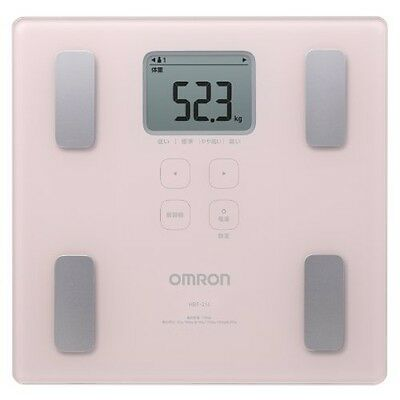 OMRON Digital composition Health body scan HBF-214-PK bathroom scale JAPAN
