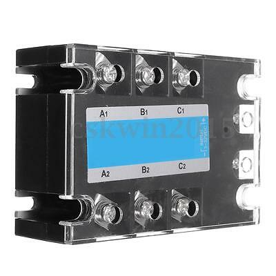 3Phasen Solid State Relais DC AC SSR-20A Festkörperrelais 3-32VDC In /480VAC Out