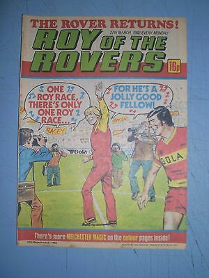Roy of the Rovers issue dated March 27 1982