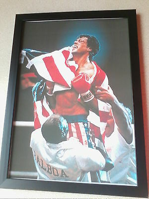 Rocky IV (1985) framed movie poster print