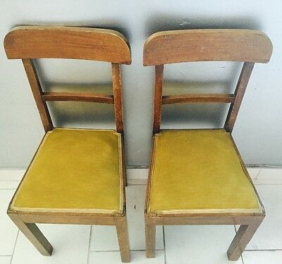 CHAIR wooden chair chairs YEARS 50 'era solid velvet VINTAGE modernism