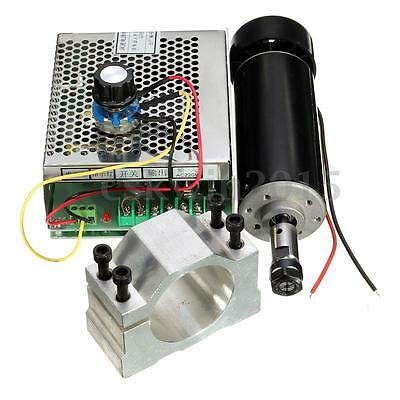 ER11 500W Chuck CNC Spindle Motor + 52mm Clamps + Speed Governor For DIY CNC