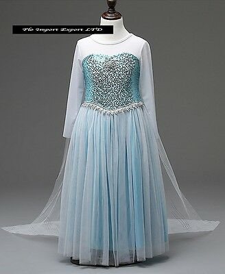 Frozen Vestito Carnevale Elsa Dress up Elsa Cosplay Costumes 789048