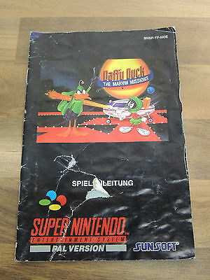 Snes Spielanleitung Daffy Duck The Marvin Missions