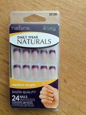 NAILENE daily Wear Naturals - 24 French Manicure False Nails In Medium 22126