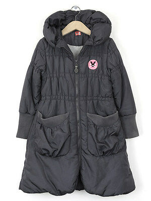 No Added Sugar Girls Padded Charcoal Coat Age 9-10