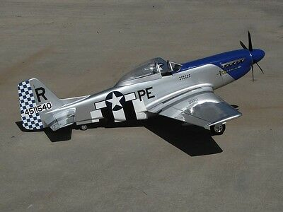 "Scale P51 Mustang  50""  Giant Scale RC Model AIrplane PDF plans on CD"