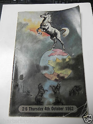 1962 Horse Of The Year Show Programme. Empire Pool Wembley