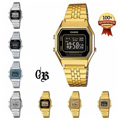 Casio Women's Digital watch Silver/Gold Tone Stainless Steel   LA680WGA-1A/1B/9B