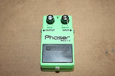 BOSS PH-1 Phaser Guitare Effet Pedale JUIN 1980 LONG DASH japan Black Label mij