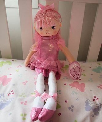 Bella Ballerina Rag Doll, Pretty Girls Ragdoll, Ballet Doll 60cm Tall