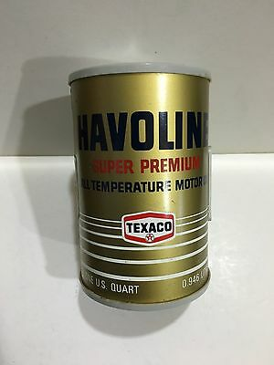 VINTAGE NOVELTY HAVOLIN MOTOR OIL CAN RADIO  AM(MW)- BAND FROM THE 1970s-
