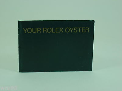 Genuine Rolex booklet vintage Your Rolex Oyster instruction 2003