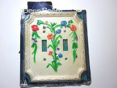Vintage Floral 2 Gang Double Switch Plate Cover American Tack Hardware Bouquet