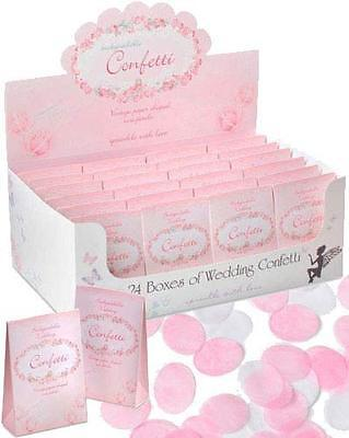 Vintage Rose Petal Paper Wedding Confetti x24 Packets