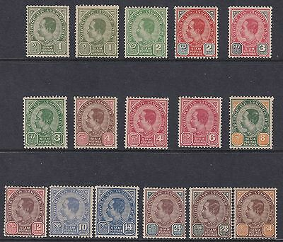 1899/1904 Thailand/Tailandia - SG 67/81 set of 16  MLH/*
