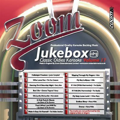 Zoom Karaoke Jukebox Series Volume 17 Classic Oldies CD + G New Sealed
