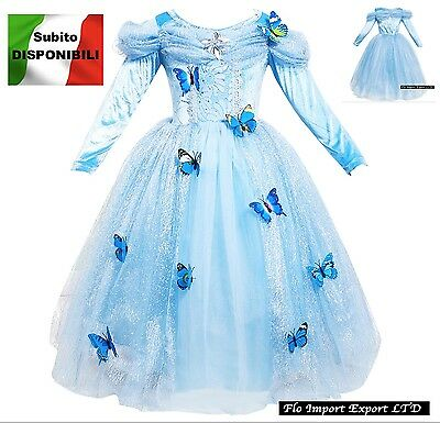 Cenerentola Vestito Carnevale Dress up Cinderella Cosplay Costume Dress 567006LS