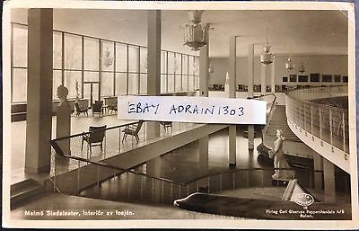 Malmo Posted 1948 To Hayling Island. Theatre Foyer. Carl Gleerups RPPC