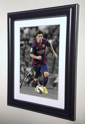 Signed Lionel Messi Barcelona Photo Photograph Picture Frame Autographed sml