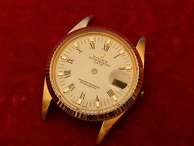 Rolex Full Solid 18K Gold Oyster Perpetual Date 15038 Case And Dial Parts