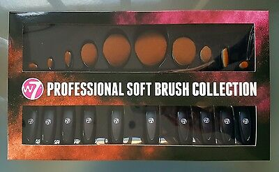 W7 Professional 10 Piece Soft Brush Collection Brust + Free Postage