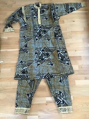 African Men's Traditional Outfit - Trousers And Shirt