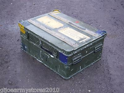MOD Military Zarges Metal Aluminium Storage Shipping Box Expedition Flight Case