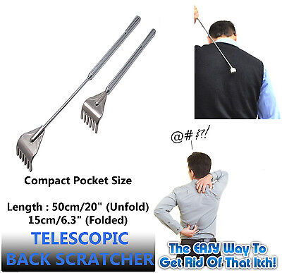 New Portable Pocket Extendable Back Scratcher Itching Massager Telescopic Claw