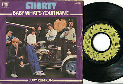 SHORTY - Baby What's Your Name 45 UK 1976 Teen GLAM ROCK POWERPOP RARE RENCH PS