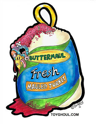Wacky Packages Inspired Butterball Turkey Parody  Buttermaul Print Card Scheres